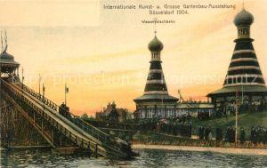 AK / Ansichtskarte Duesseldorf Gartenbau Ausstellung 1904 Wasserrutschbahn Duesseldorf