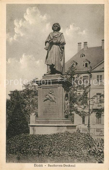 AK / Ansichtskarte Bonn_Rhein Beethoven Denkmal Bonn_Rhein