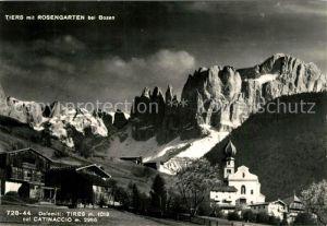 AK / Ansichtskarte Tiers_Dolomiten mit Rosengarten Tiers Dolomiten