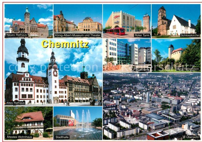 AK / Ansichtskarte Chemnitz Burg Rabenstein altes Rathaus Roter Turm Chemnitz