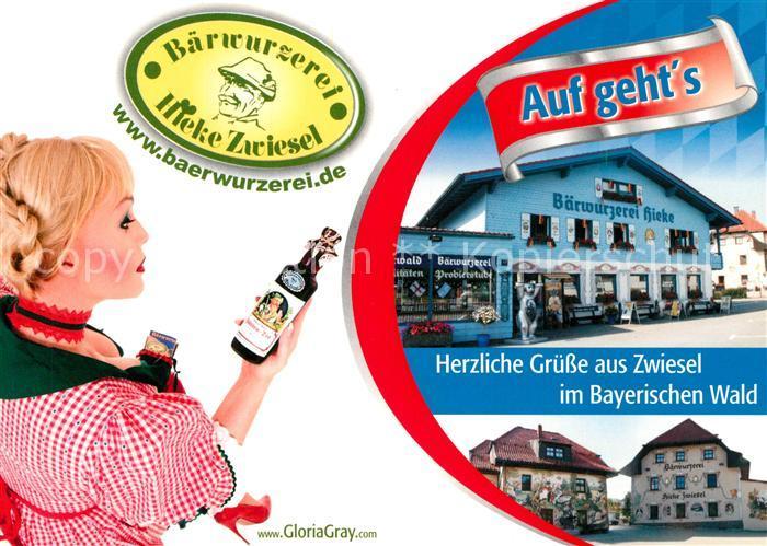 AK / Ansichtskarte Zwiesel_Niederbayern Baerwurzerei im Bayerischen Wald Zwiesel Niederbayern