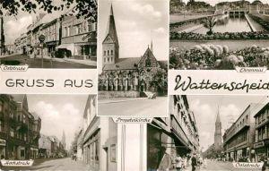 AK / Ansichtskarte Wattenscheid Oststrasse Hochstrasse Propsteikirche Ehrenmal Wattenscheid