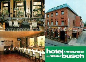 AK / Ansichtskarte Wilster Hotel Busch Restaurant Kegelbahn Wilster