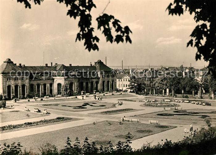AK / Ansichtskarte Gotha_Thueringen Orangerie Heinrich Heine Bibliothek Gotha Thueringen