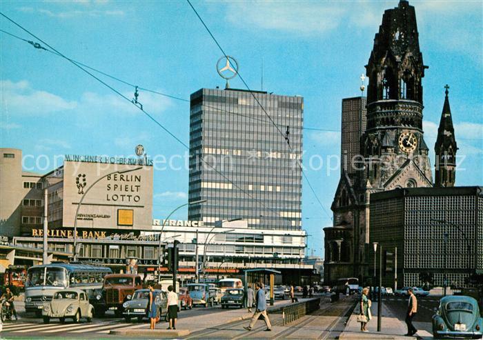 AK / Ansichtskarte Berlin Kaiser Wilhelm Gedaechtniskirche Europa Center Berlin