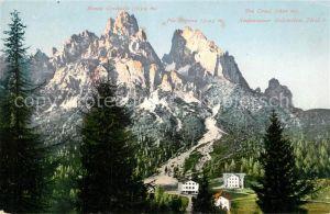 AK / Ansichtskarte Dolomiti Monte Cristallo Piz Popena Tre Croci Ampessaner Dolomiten Dolomiti