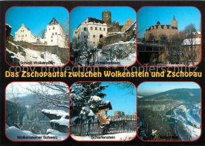 AK / Ansichtskarte Zschopautal Schloss Wolkenstein Schloss Scharfenstein Schloss Wildeck  Zschopautal