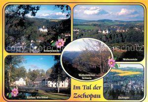 AK / Ansichtskarte Zschopau Scharfenstein Wolkenstein Kurbad Warmbad  Zschopau