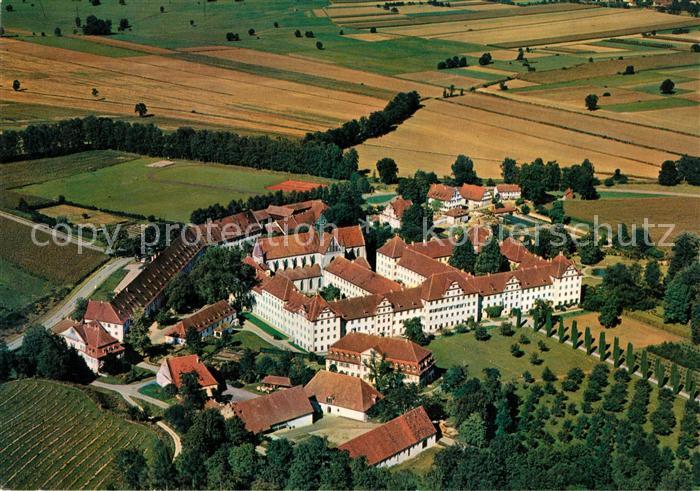 AK / Ansichtskarte Salem_Baden Schloss Schloss Schule Fliegeraufnahme Salem_Baden