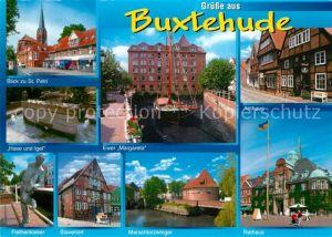 AK / Ansichtskarte Buxtehude Ewer Margareta Rathaus Abthaus Stavenort  Buxtehude