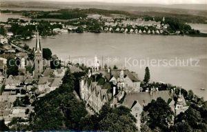 AK / Ansichtskarte Ploen_See Schloss Naturpark Holsteinische Schweiz Fliegeraufnahme Ploen_See