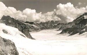 AK / Ansichtskarte Jungfraujoch mit Aletschgletscher Jungfraujoch