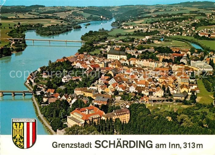 AK / Ansichtskarte Schaerding Fliegeraufnahme Schaerding