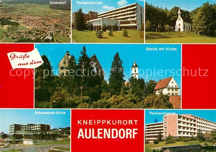 AK / Ansichtskarte Aulendorf Schloss Kirche Parksanatorium  Aulendorf 0