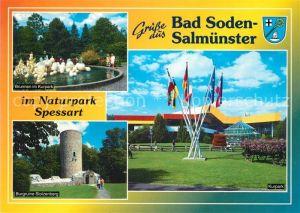AK / Ansichtskarte Bad_Soden Salmuenster Burgruine Stolzenberg Kurpark Bad_Soden Salmuenster
