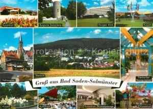AK / Ansichtskarte Bad_Soden Salmuenster Kinzigtal Klinik Rathausplatz Kurzentrum  Bad_Soden Salmuenster