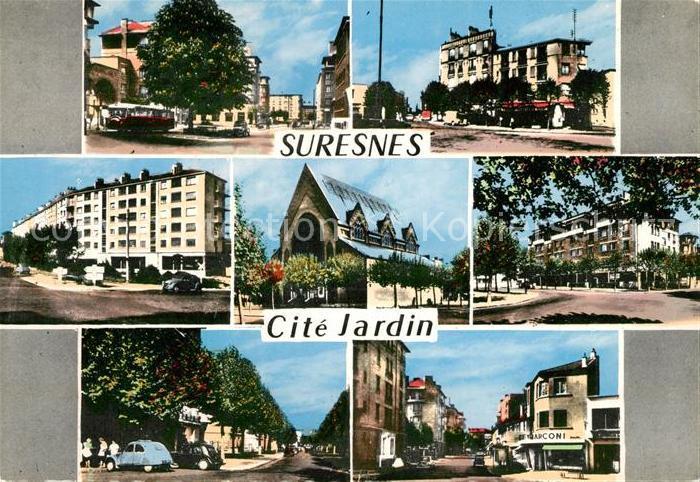 AK / Ansichtskarte Suresnes Cite Jardin Suresnes
