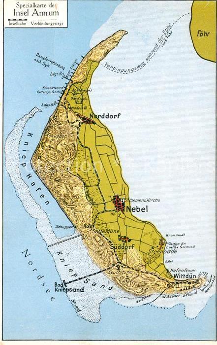 amrum karte AK / Ansichtskarte Amrum Landkarte Nebel Amrum Nr. sa88631  amrum karte