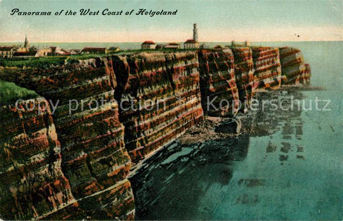 AK / Ansichtskarte Helgoland Panorama Westkueste Helgoland