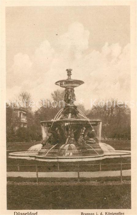 AK / Ansichtskarte Duesseldorf Brunnen Koenigsallee Duesseldorf