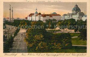 AK / Ansichtskarte Duesseldorf Kaiser Wilhelm Park Regierungsgebaeude Kunstpalast Duesseldorf