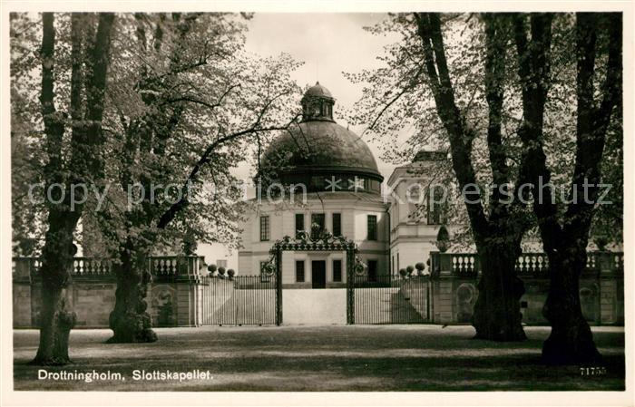 AK / Ansichtskarte Drottningholm Schlosskapelle Drottningholm