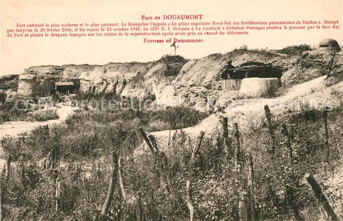 AK / Ansichtskarte Douaumont Fort de Douaumont Douaumont
