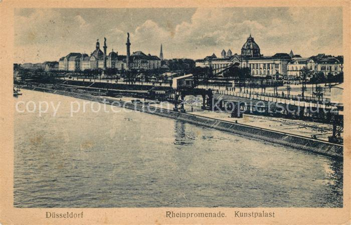AK / Ansichtskarte Duesseldorf Rheinpromenade Kunstpalast Duesseldorf