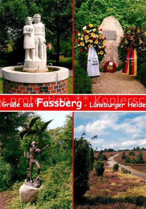 AK / Ansichtskarte Fassberg Kriegerdenkmal Statuen  Fassberg