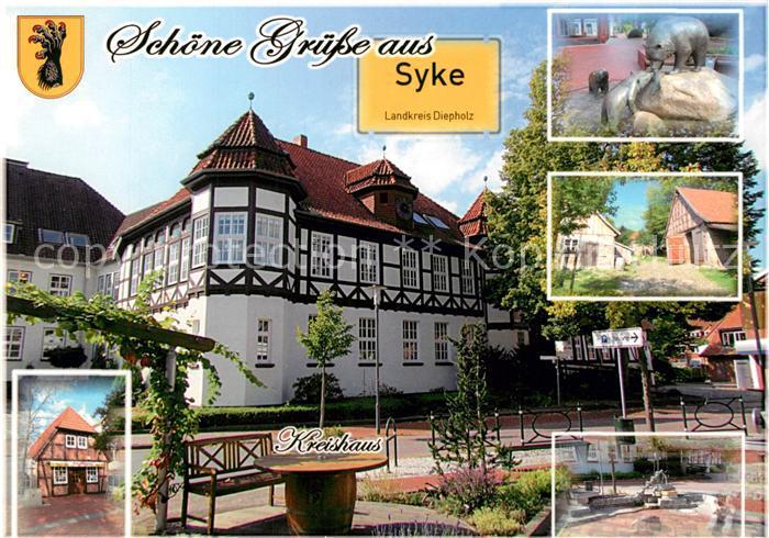 AK / Ansichtskarte Syke Kreishaus  Syke