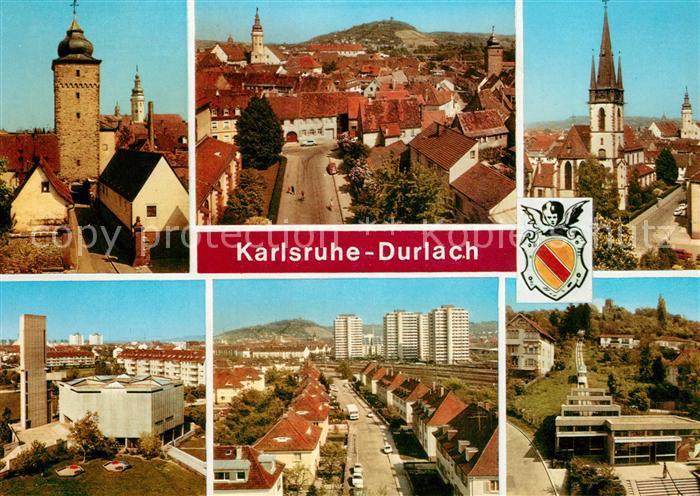 AK / Ansichtskarte Durlach Stadttor Kirche Stadtansichten Durlach