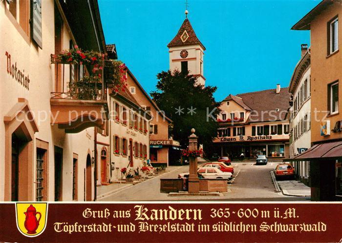 AK / Ansichtskarte Kandern Notariat Brunnen Loewen ...