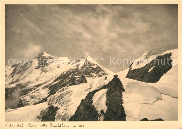 AK / Ansichtskarte Strahlhorn_Loetschental Panorama Winter Strahlhorn Loetschental