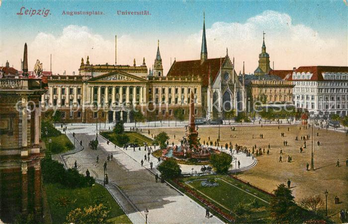 AK / Ansichtskarte Leipzig Augustusplatz Universitaet Leipzig