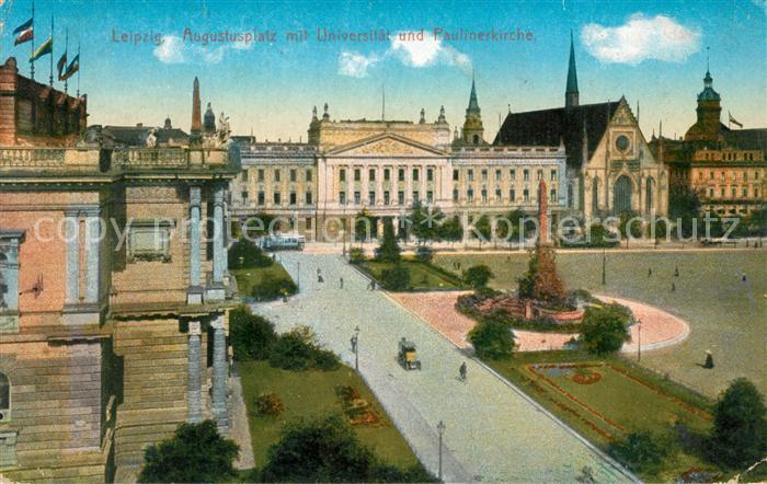 AK / Ansichtskarte Leipzig Augustusplatz Universitaet Paulinerkirche Leipzig