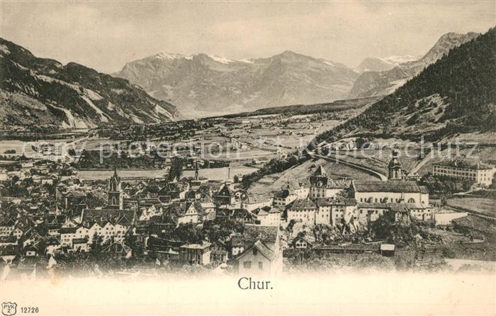 AK / Ansichtskarte Chur_GR Panorama Chur_GR