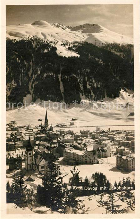 AK / Ansichtskarte Davos_GR mit Jakobshorn Davos_GR