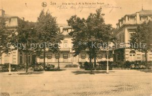 AK / Ansichtskarte Spa_Liege Villa de feu SM la Reine des Belges Spa_Liege