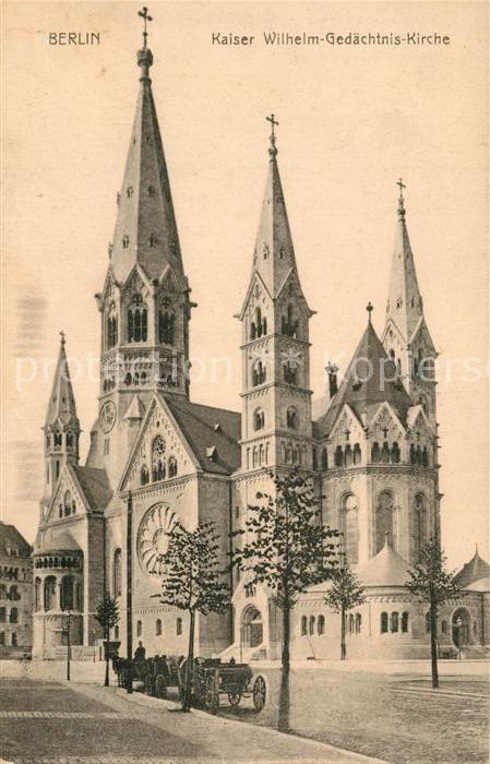 AK / Ansichtskarte Berlin Kaiser Wilhelm Gedaechtnis Kirche Berlin