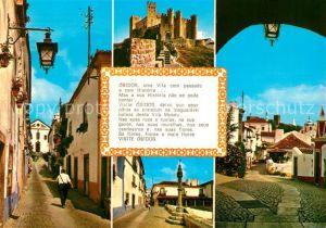 AK / Ansichtskarte Obidos Burg Stadtansichten Obidos