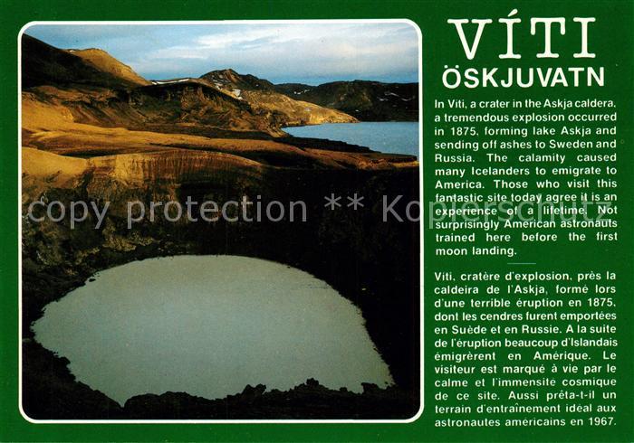 AK / Ansichtskarte Island Viti oeskjuvatn Island