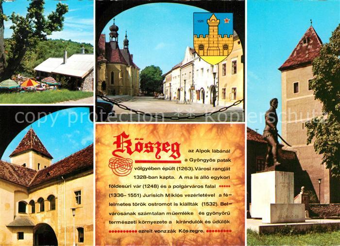 AK / Ansichtskarte Koeszeg Stadtansichten Burg Koeszeg