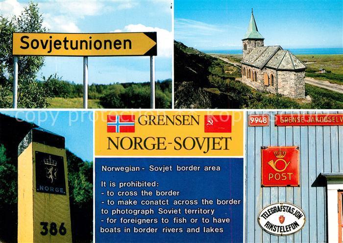 AK / Ansichtskarte Norwegen_Norge Grensen Kirche Post Norwegen Norge