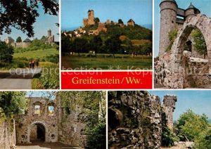 AK / Ansichtskarte Greifenstein_Hessen Burgruine Bruderturm Greifenstein_Hessen