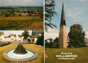 AK / Ansichtskarte Wallmerod Kirche Panorama Kirche Wallmerod