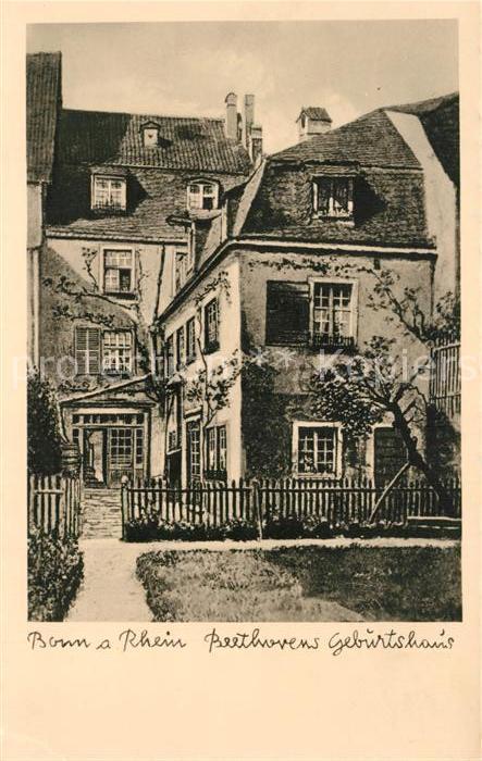 AK / Ansichtskarte Bonn_Rhein Beethovens Geburtshaus Bonn_Rhein