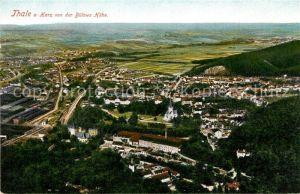 AK / Ansichtskarte Thale_Harz Panorama Blick von der Buelows Hoehe Thale_Harz