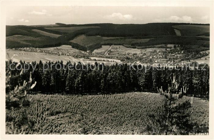 AK / Ansichtskarte Tambach Dietharz Panorama Blick vom Steiger Thueringer Wald Tambach Dietharz