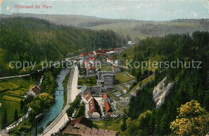 AK / Ansichtskarte Ruebeland_Harz Panorama Blick ins Tal Ruebeland_Harz