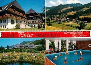 AK / Ansichtskarte Menzenschwand Kurheim Pieper Schwimmbad Menzenschwand